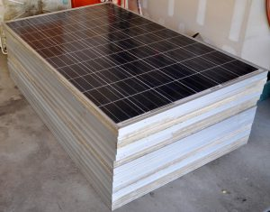 stacked solar panels