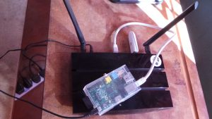 router and Raspberry Pi with RACHEL