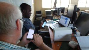 setting up synology at chilanga primary school