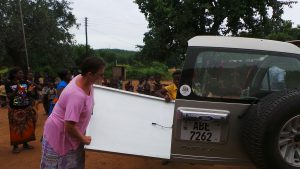 Taking panels from car