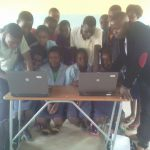 Grade 7 pupils at Kawila with teacher George