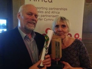 award trophy made of Welsh Oak and slate