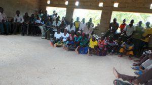 village meeting at Lakeshore school