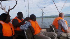 on the boat to Manchamvwa