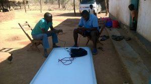 solar panels at Dambilo