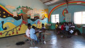 decorated classsroom at kabbila