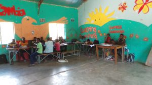 decorated classroom at Kabbila