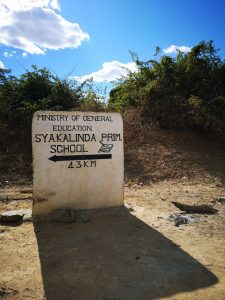 Syakalinda school sign