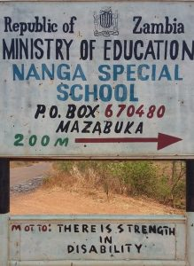 Nanga Special school sign