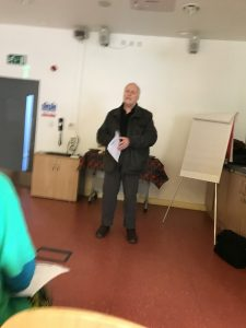 Howard sharing experiences of working with local partners
