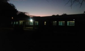 LIt up view of Siamwiinga school at night