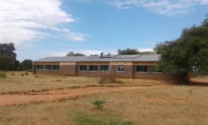 view of school with panels