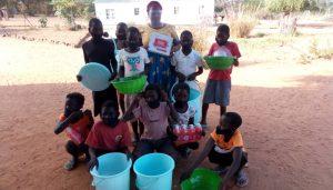 Dambilo school with hygiene equipment
