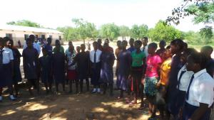 Munyama Primary School pupils