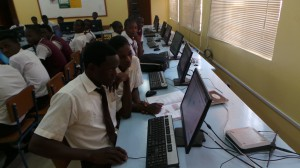 Pupils in computer lab